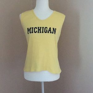 U of M Michigan yellow maize blue tank top